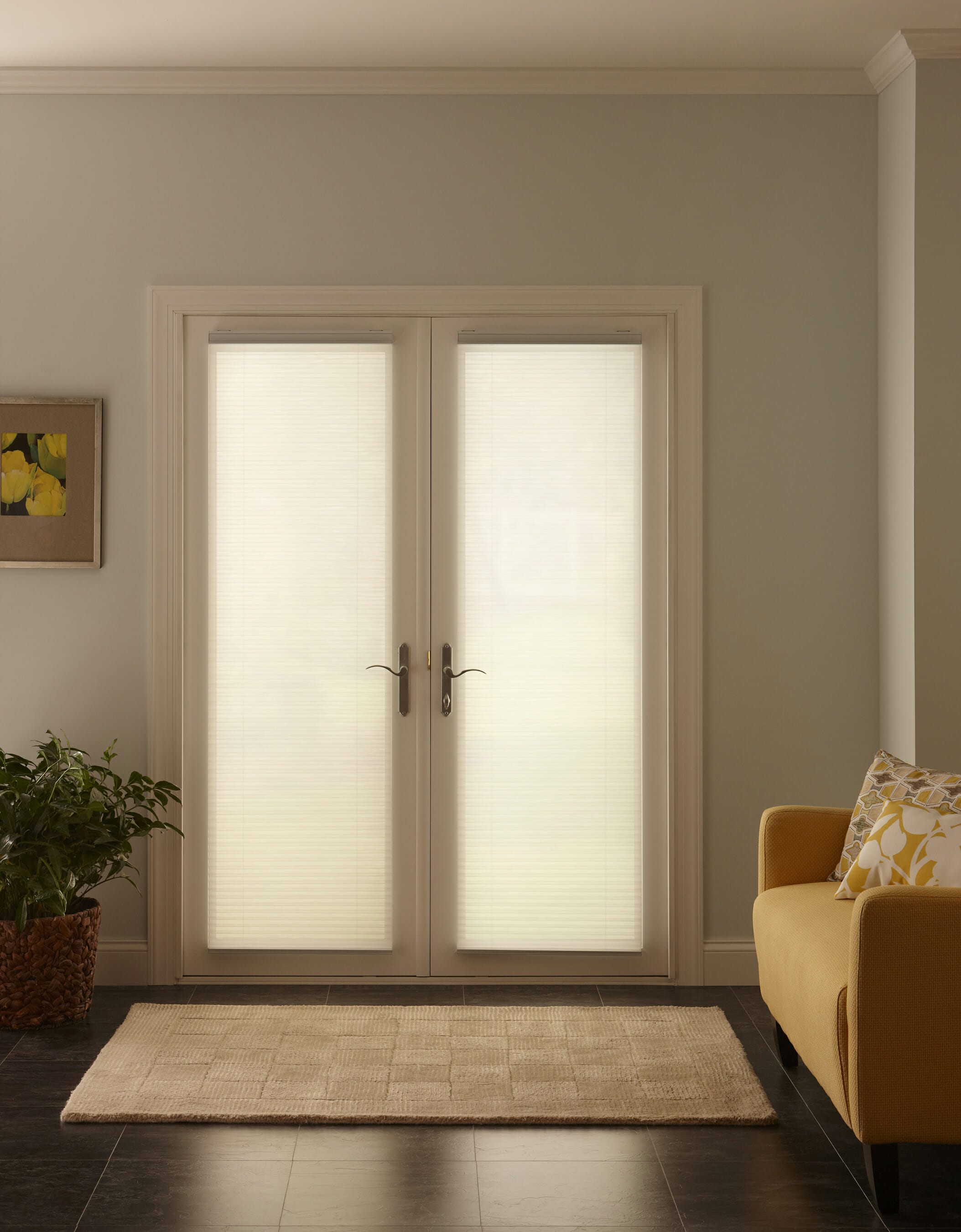 Curtains blackout honeycomb shades blackout shades blinds blinds and - Cell Shades On French Doors Down