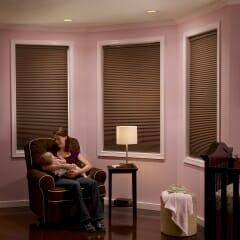 Room Darkening Cellular Shades in Nursery