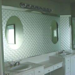 Bathroom Mirror Frosting