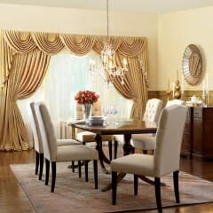 Enhance Your Formal Dining Room With Magnificant Draperies