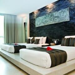 BTX Automated Drapery in Modern Bedroom