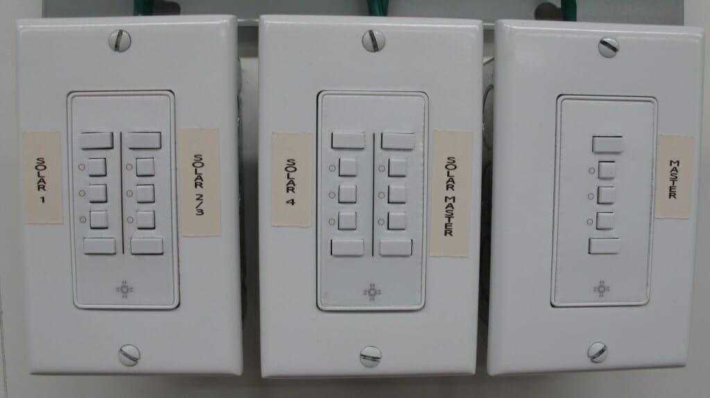 Multiple Mechoshade Iq Switches