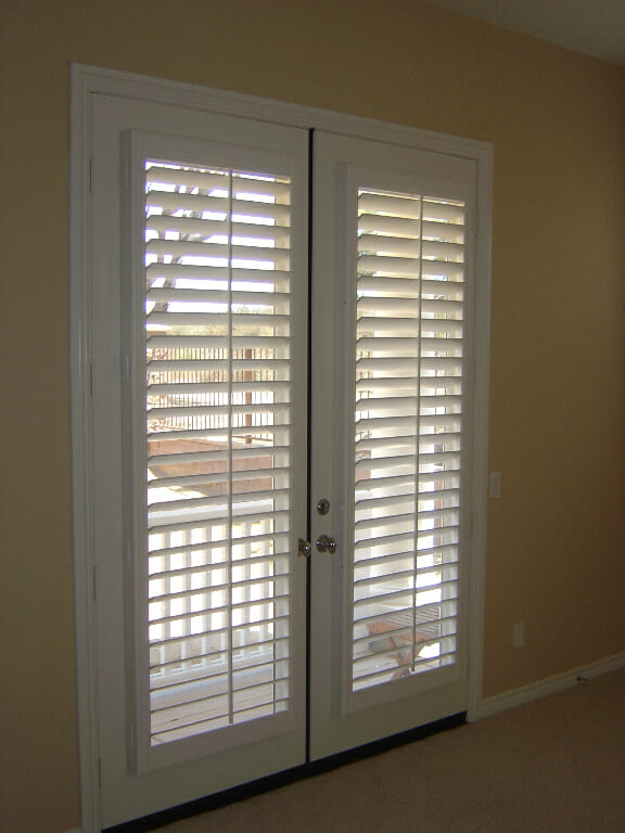 French Door Faux Wood Blinds Submited Images