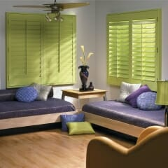 Plantation Shutters Can Be Custom Stained To Match Your Decor