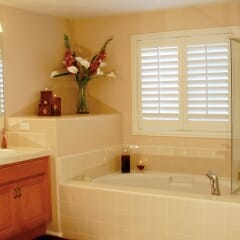 Polycore Faux Wood Shutters For The Bathroom