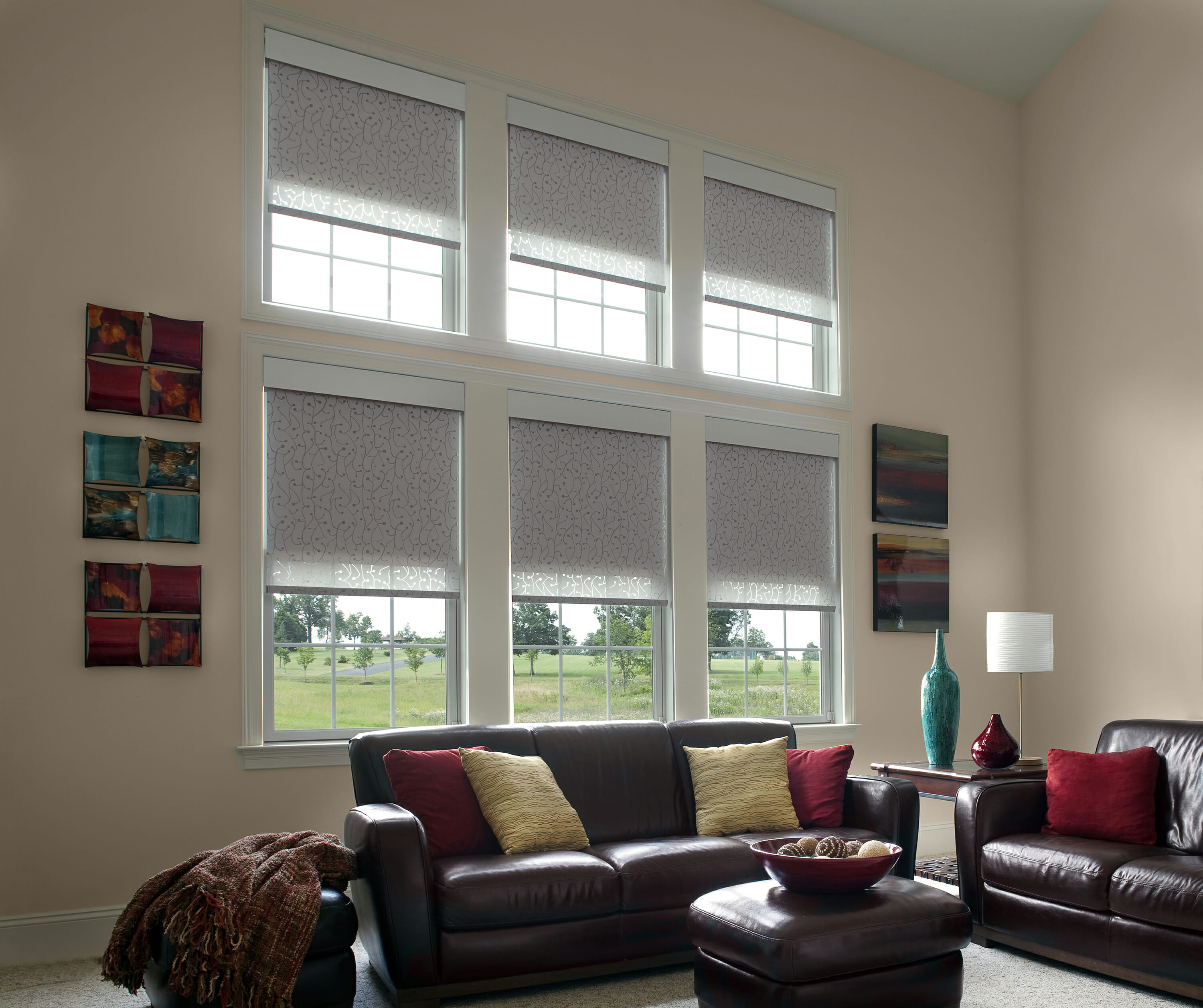 Dual Shades With Blackout And Privacy Shade Drawn From Lutron