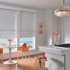 White Fabric Roll Shades In Kitchen from Graber productid-gds0802 rn110909ca