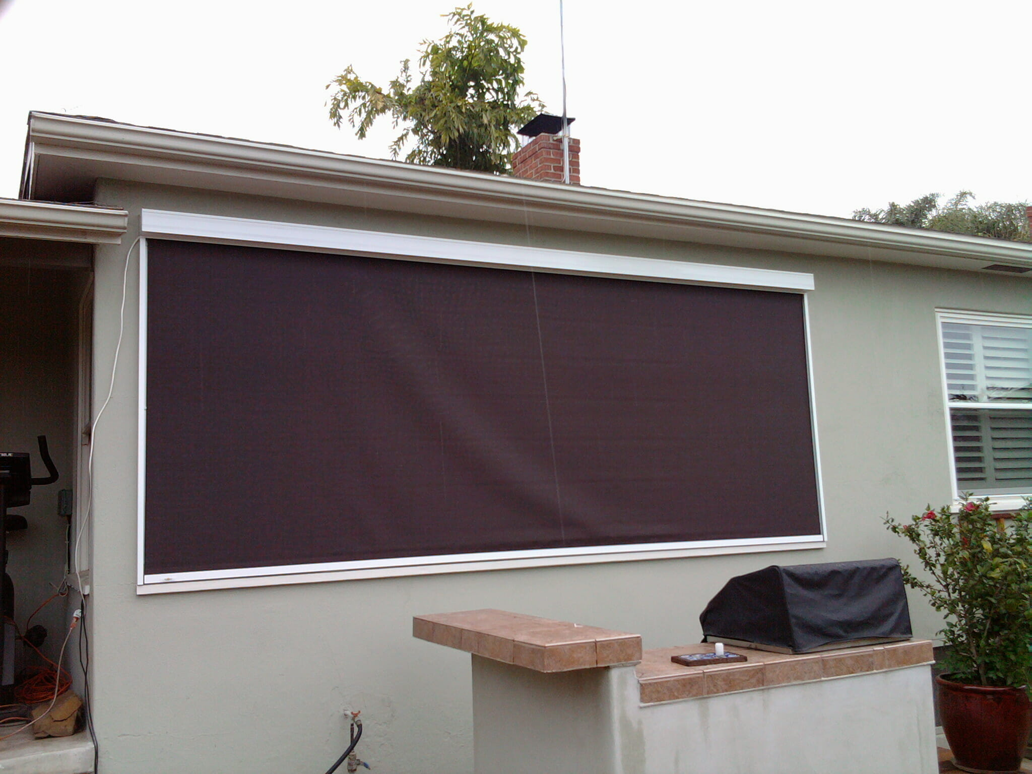 motorized exterior roller shades make everything you