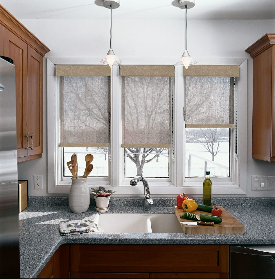 Kitchen Shades Kitchen Window Treatment Ideas 3 Blind Mice Window Coverings