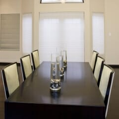 Somfy Motorized Roller Shades in Dining Room