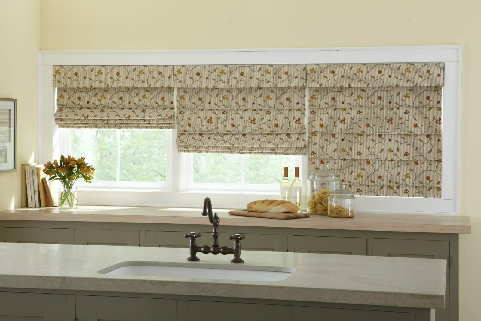 Roman shades 3 blind mice window coverings for Roman blinds for large windows