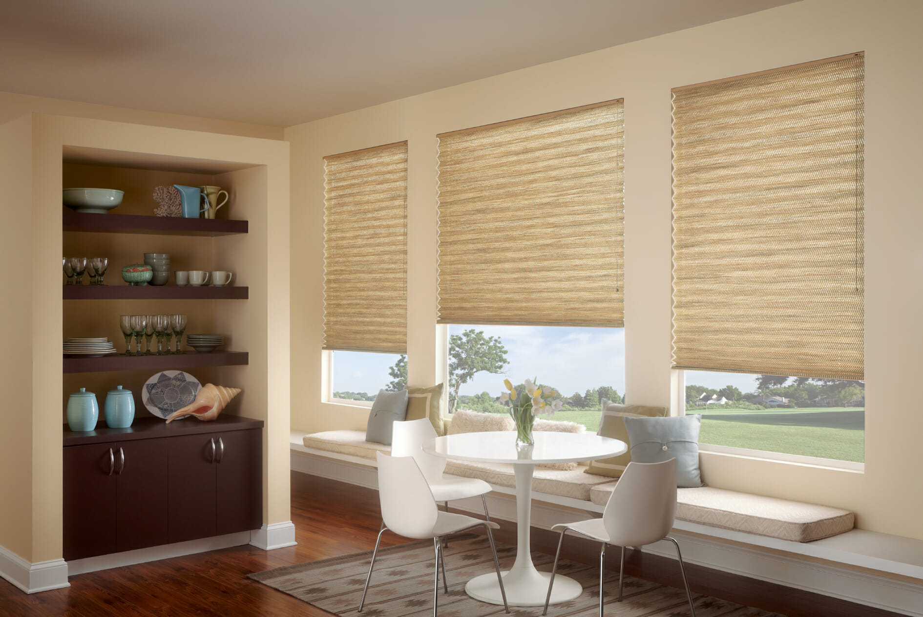 Graber blinds 3 blind mice window coverings for Window treatment manufacturers