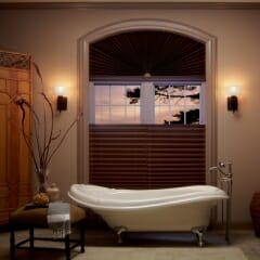 Roman Shades In The Bathroom