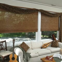 Roman Woven Woods With Valance