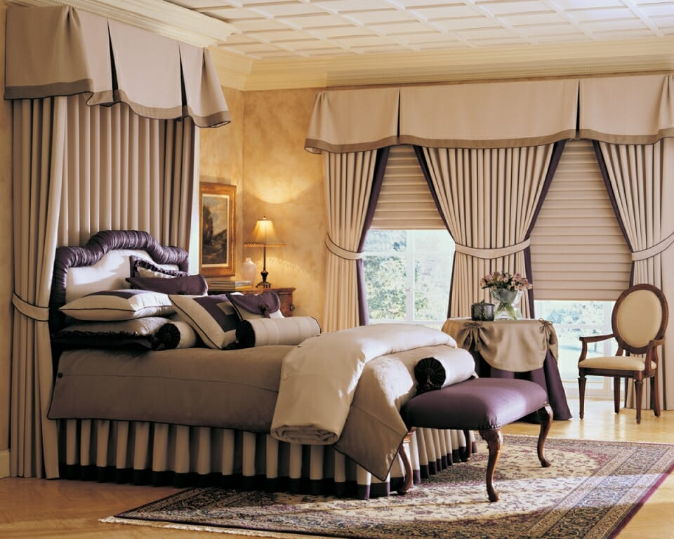 Elegant Pairing Of Roman Shades With Draperies