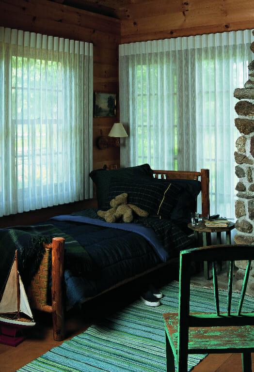 Room Darkening Shades in Open Position