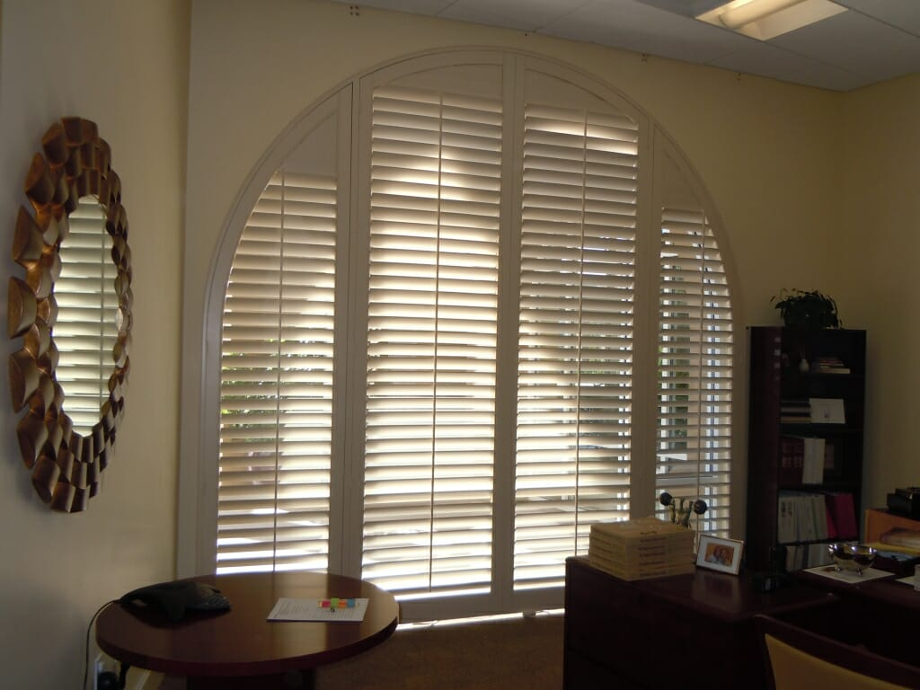 Custom Arched Shutters Plantation Shutters For Arched Windows