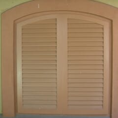 Exterior Wood Shutter Fixed Louvers