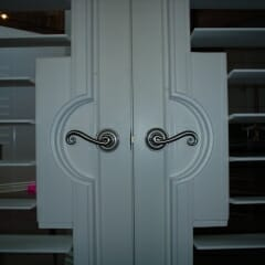 French Door Cutout For Sweeping Door Handles