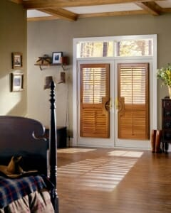 Heritance Wood Shutters On French Doors