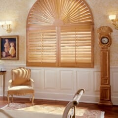Wood Shutters Are Perfect For Specially Shaped Windows