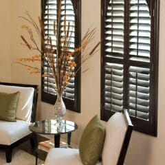 Norman Arched Shutters Stained Sussex