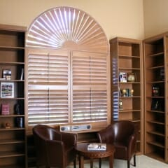 Custom Shutters for Arched Window from Sunland Shutters -3