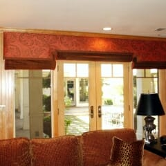 Custom Cornice Box In Family Room