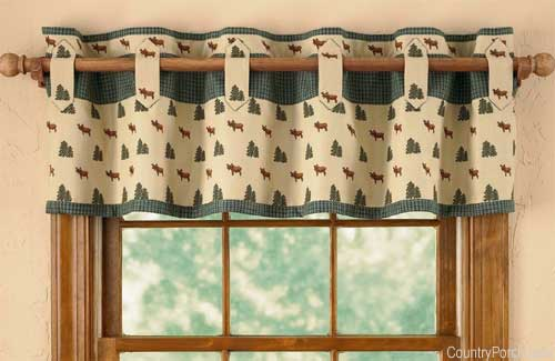 simple tabbed valance with drapery - Valance Design Ideas