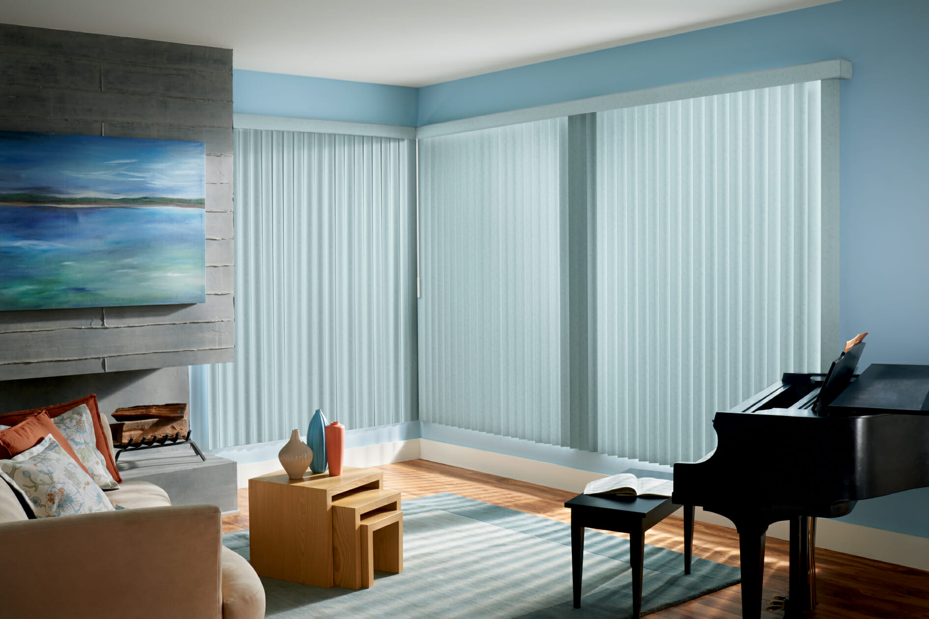 Curtains Ideas curtains with plantation shutters : Vertical Blinds - 3 Blind Mice Window Coverings