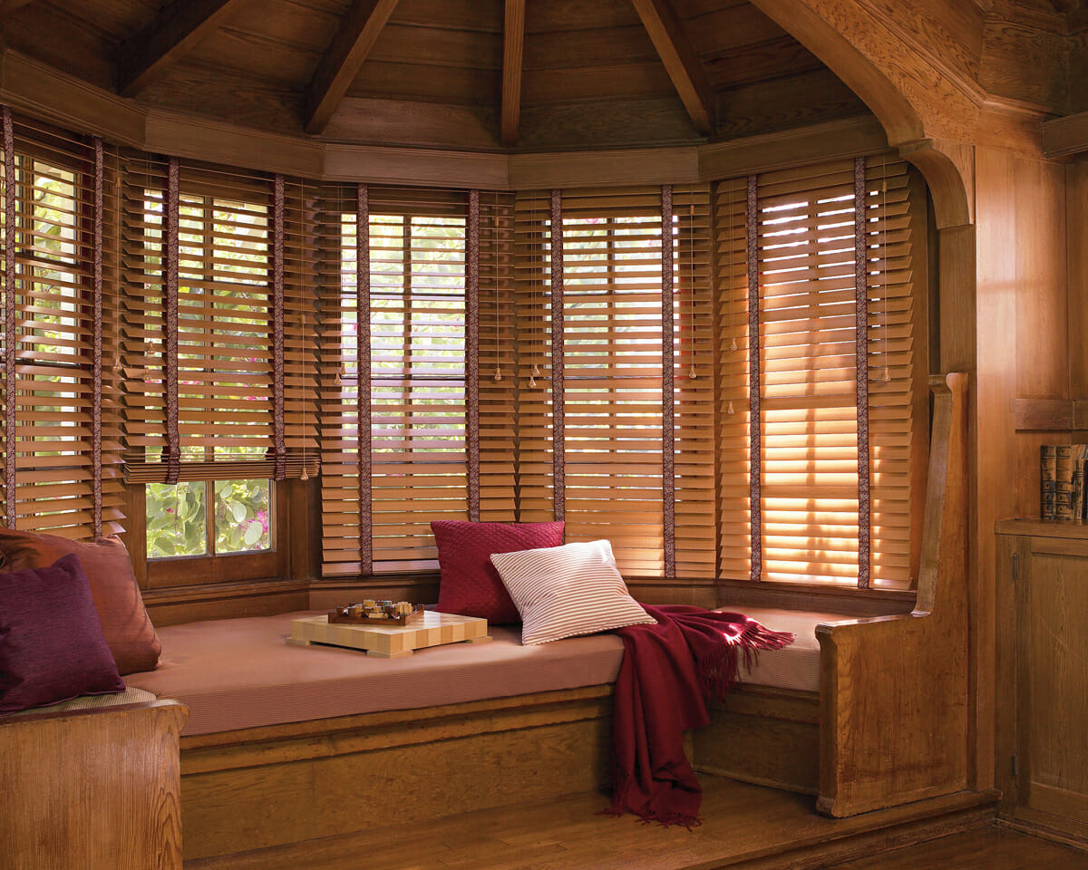 Wood blinds 3 blind mice window coverings - Persianas de bambu ...