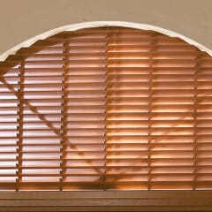 Wood Blinds Easily Fit Not So Easy-to-Fit Windows