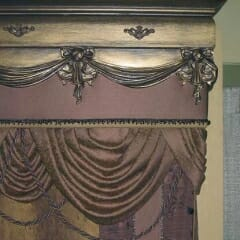 Elegant Drapery and Wood Valance