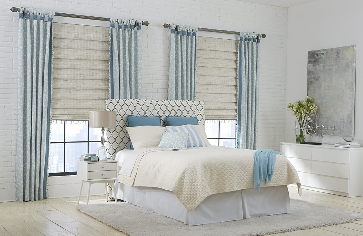 Woven wood shades 3 blind mice window coverings - Window treatment ideas pictures ...