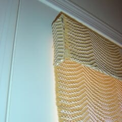 Valance Return On Outside Mount Woven Wood