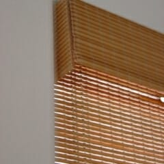 Valance Returns On Inside Mount Woven Wood