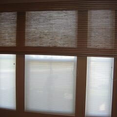 Woven Woods Over Cellular Shades