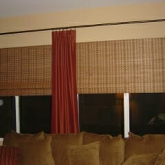Woven Woods With Drapery Panels