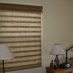 Grass Cloth Shade Privacy Liner Bedroom
