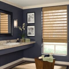 Handsome Woven Wood Shades for the Kitchen