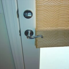 Sweeping Door Handle Woven Wood