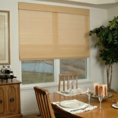 Woven Wood In Dining Room