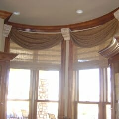 Woven Wood Shades With A Custom Valance