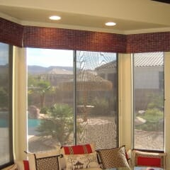 Woven Wood Valance In A Nook