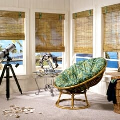 Woven Woods With Matching Valance Ties
