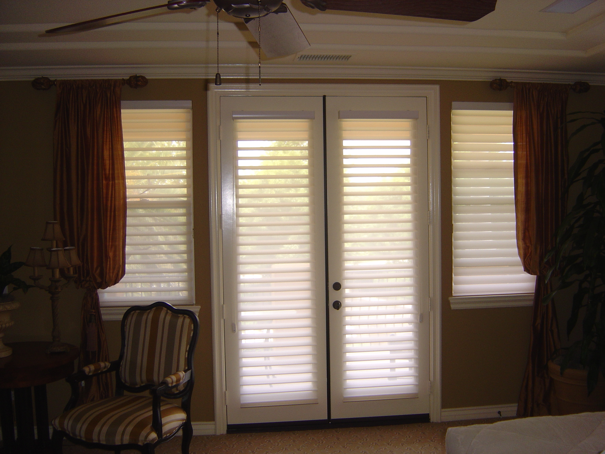 Ideas To Cover Sliding Glass Doors window covering ideas inspiration polywood shutters for sliding glass door Window Treatment Ideas For Doors 3 Blind Mice