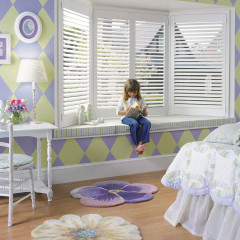 Vinyl Shutters are Child Friendly