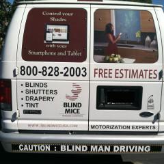The 3 Blind Mice Window Coverings Van