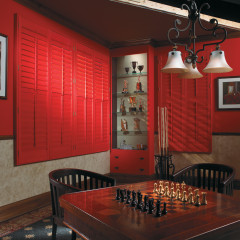 Colored Shutters in San Diego Home