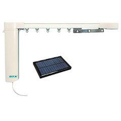 solar powered drapes with motorization system